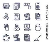 press icons set. set of 16... | Shutterstock .eps vector #659746132