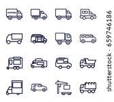 van icons set. set of 16 van... | Shutterstock .eps vector #659746186