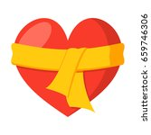 heart care concept with heart... | Shutterstock .eps vector #659746306