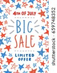 fourth of july sale poster... | Shutterstock .eps vector #659748352
