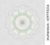 green abstract rosette | Shutterstock .eps vector #659755216