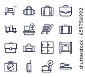 baggage icons set. set of 16... | Shutterstock .eps vector #659756992