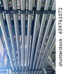 Small photo of industry air flow and material supply pipe set