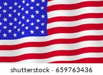 bright usa flag background.... | Shutterstock .eps vector #659763436