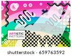 artistic funky design for print ...   Shutterstock .eps vector #659763592