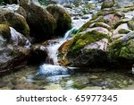 Wild Mountain River With Small...