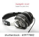 headphones isolated on white... | Shutterstock . vector #65977882