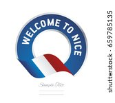 welcome to nice france flag...   Shutterstock .eps vector #659785135