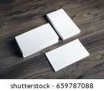 photo of blank white business... | Shutterstock . vector #659787088