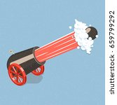 shooting cannon. isometric... | Shutterstock .eps vector #659799292