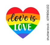 love is love. inspirational gay ... | Shutterstock .eps vector #659806102