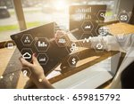 business and technology concept.... | Shutterstock . vector #659815792