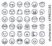 emoji icons set. set of 36... | Shutterstock .eps vector #659822182