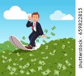 businessman surfing financial... | Shutterstock .eps vector #659822815