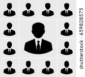 business man icons vector set | Shutterstock .eps vector #659828575