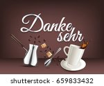 thank you   in german language  ... | Shutterstock .eps vector #659833432