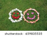 two smiley faces emoticons from ... | Shutterstock . vector #659835535