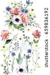 flower bouquet with elements | Shutterstock . vector #659836192