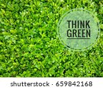 think green logo over natural... | Shutterstock . vector #659842168