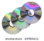 Three Colored Cd   Dvd Disks...