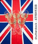 glasses of champagne on union... | Shutterstock . vector #659849308