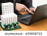 searching condominium project... | Shutterstock . vector #659858722