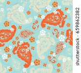 seamless pattern based on... | Shutterstock .eps vector #659862382