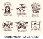 set of engraved vintage  hand... | Shutterstock .eps vector #659870632