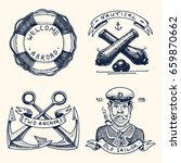 set of engraved vintage  hand... | Shutterstock .eps vector #659870662