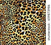fashion leopard exotic seamless ... | Shutterstock .eps vector #659873986