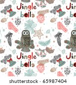 jingle bells. christmas... | Shutterstock .eps vector #65987404