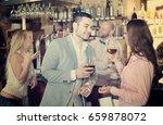 restaurant young visitors... | Shutterstock . vector #659878072