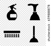 cleaner icons set. set of 4... | Shutterstock .eps vector #659888878