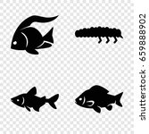 fauna icons set. set of 4 fauna ... | Shutterstock .eps vector #659888902