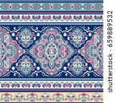 beautiful indian floral paisley ... | Shutterstock .eps vector #659889532