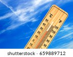 tropical temperature of 35... | Shutterstock . vector #659889712