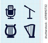 set of 4 concert filled icons... | Shutterstock .eps vector #659890732