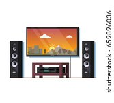 modern home theatre system or... | Shutterstock .eps vector #659896036