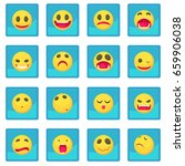 smile icon blue app for any... | Shutterstock . vector #659906038