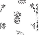 hand drawn vector seamless... | Shutterstock .eps vector #659907658