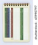 Blank Golf Score Card
