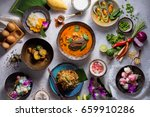 assorted thai traditional... | Shutterstock . vector #659910286