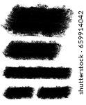 black grunge watercolor lines | Shutterstock . vector #659914042
