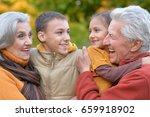 grandparents and grandchildren...   Shutterstock . vector #659918902