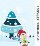 vector illustration for merry... | Shutterstock .eps vector #65992039