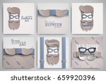 set of happy fathers day cards... | Shutterstock .eps vector #659920396