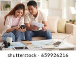portrait of young modern couple ... | Shutterstock . vector #659926216