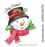 winter holidays illustration.... | Shutterstock . vector #659929075