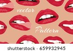 the pattern of female lips. a... | Shutterstock .eps vector #659932945