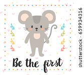 be the first. inspirational... | Shutterstock .eps vector #659934316